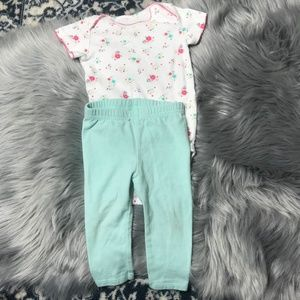 Just one you by Carter's 6M flowery outfit